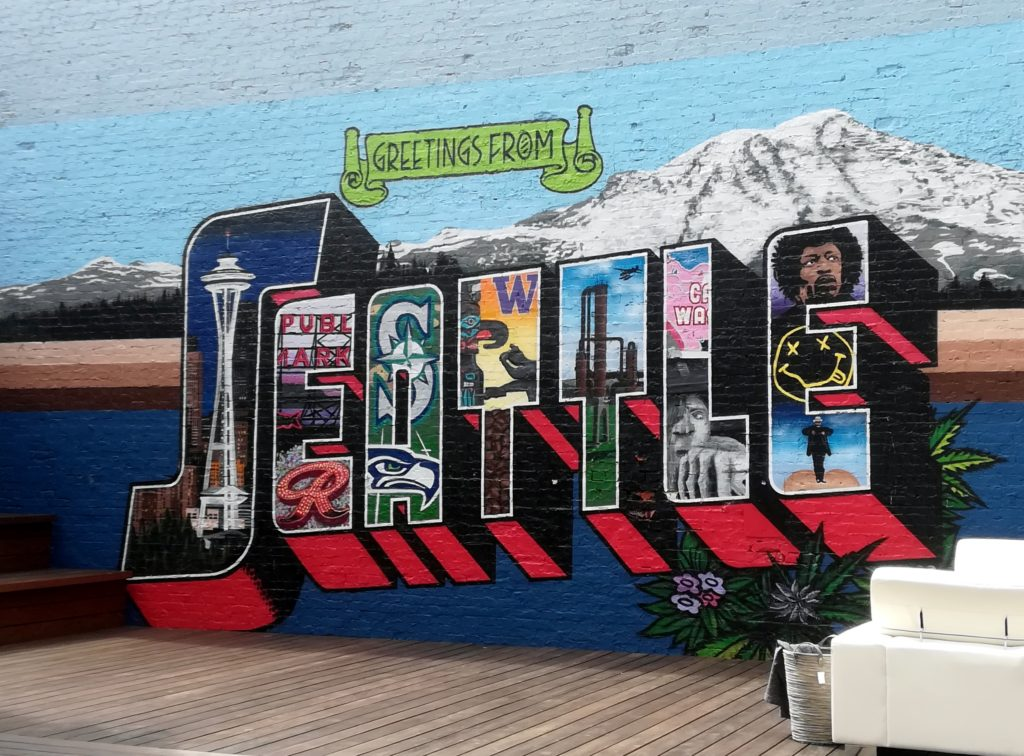 visiter Seattle - greating from