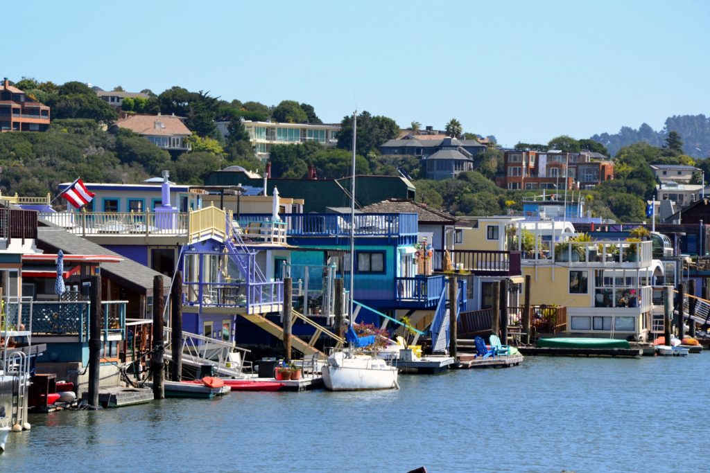 SAN FRANCISCO Sausalito houseboats pier california