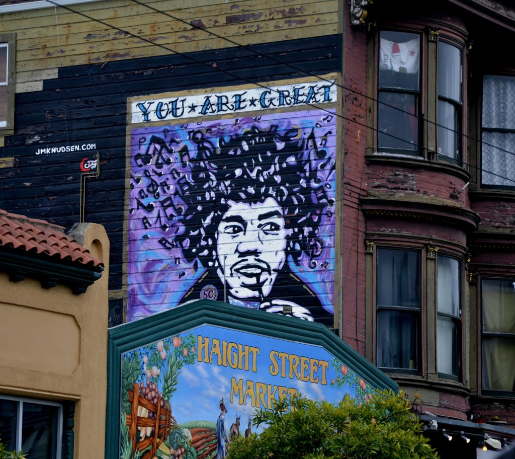 san francisco haight ashbury mural summer of love jimmy hendrix painting graffiti