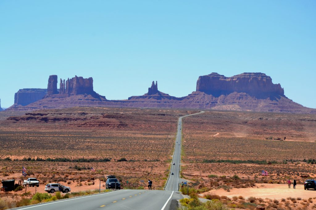 Monument Valley en mode western utah park USA roadtrip ouest américain normands voyageurs paysage nature highway 163 forrest gump point view