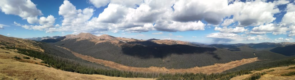Rocky Mountain National Park - nuage vue panoramique